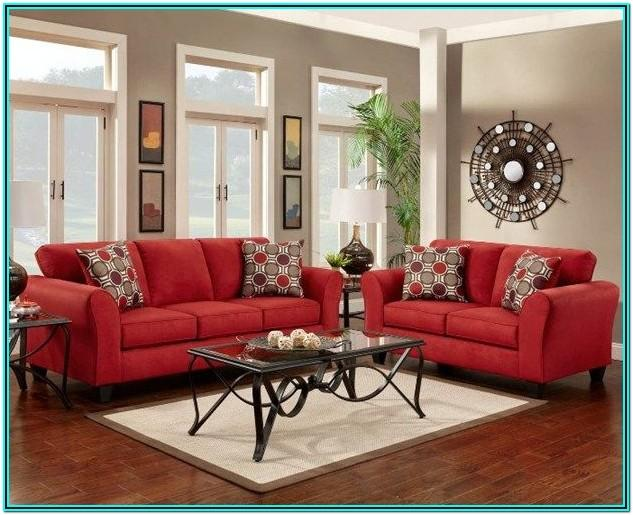 Red Couches Living Room Ideas