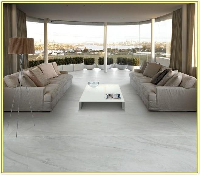 White Marble Floor Living Room Ideas