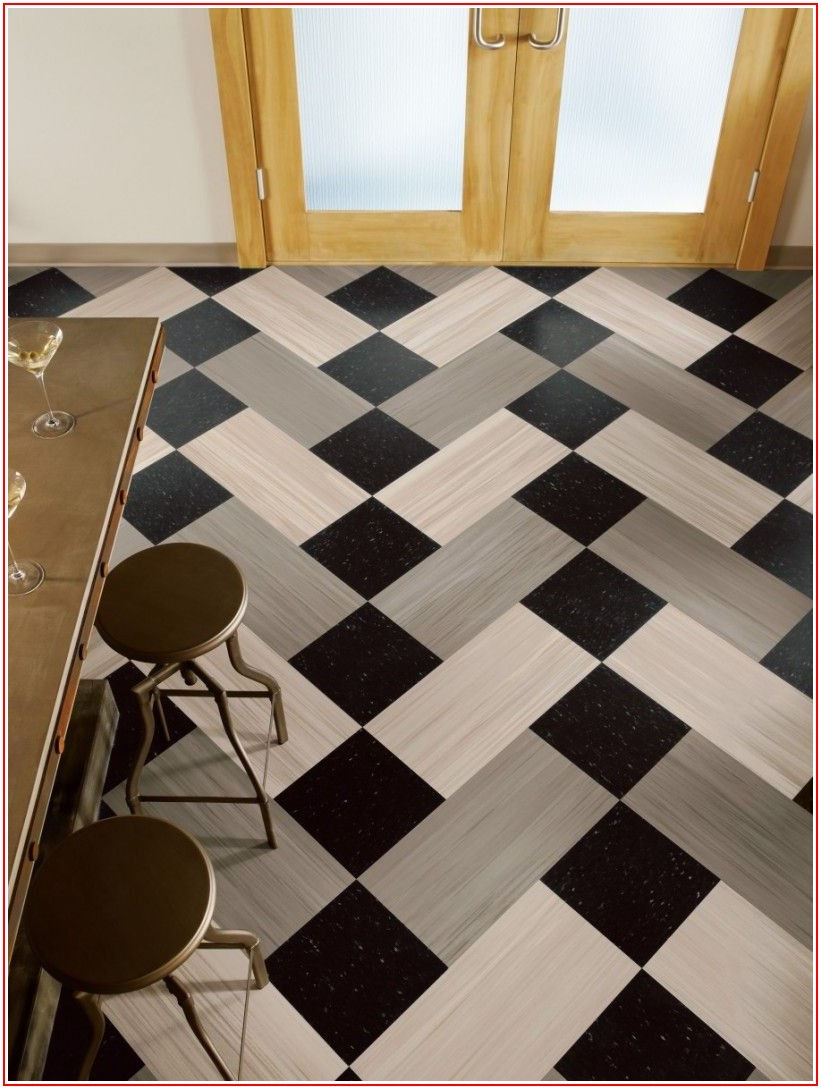 Black And White Vinyl Flooring Home Depot