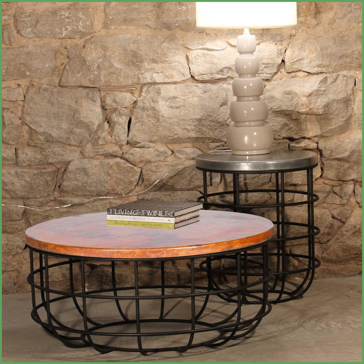 Black Hammered Metal Coffee Table
