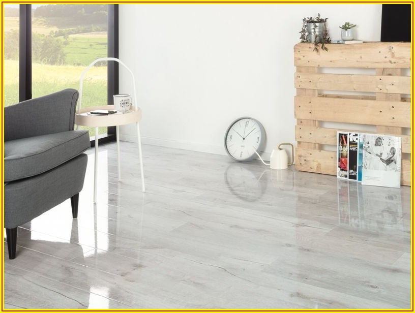 Chenai Light Grey High Gloss Laminate Flooring