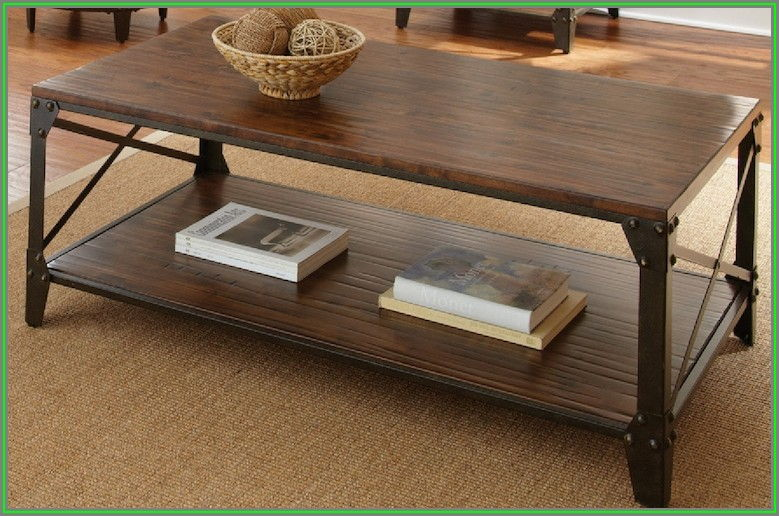 Distressed Wood Coffee Table And End Tables