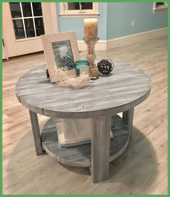 Farmhouse Rustic Round Coffee Table