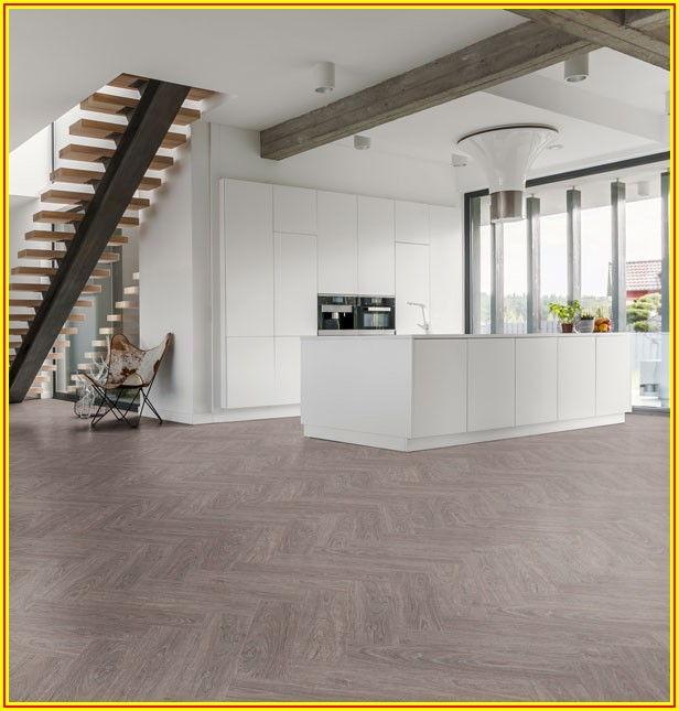 Grey Herringbone Vinyl Click Flooring