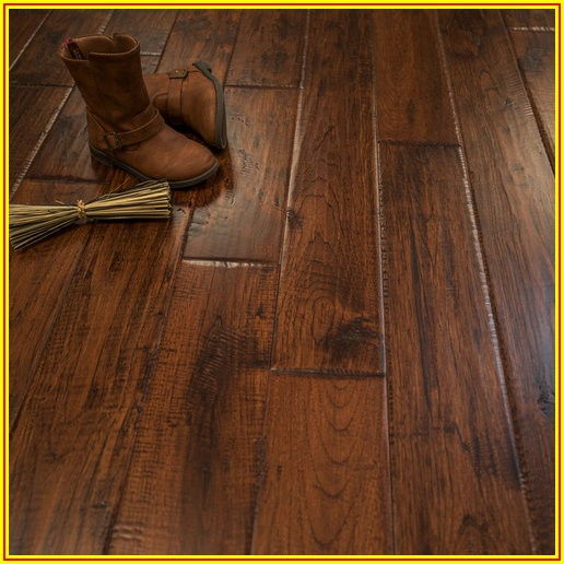 Hand Scraped Hickory Wood Flooring
