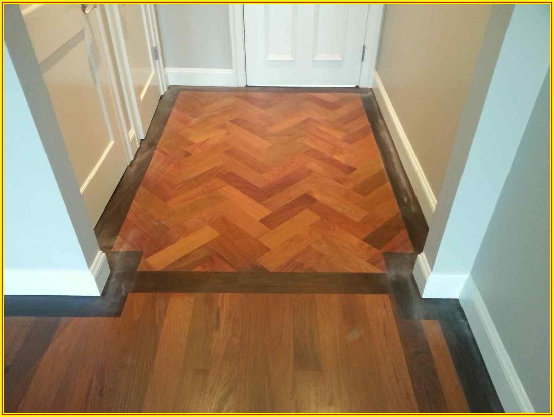 Herringbone Pattern Hardwood Floors