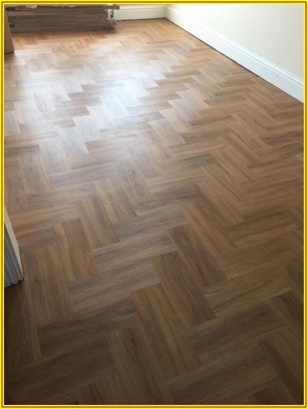 Herringbone Pattern Vinyl Flooring