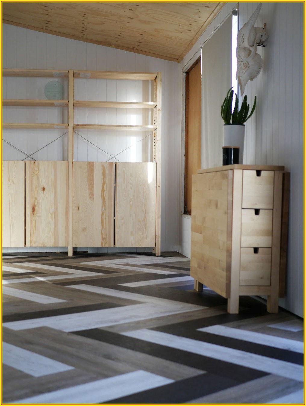 Herringbone Pattern Vinyl Plank Flooring