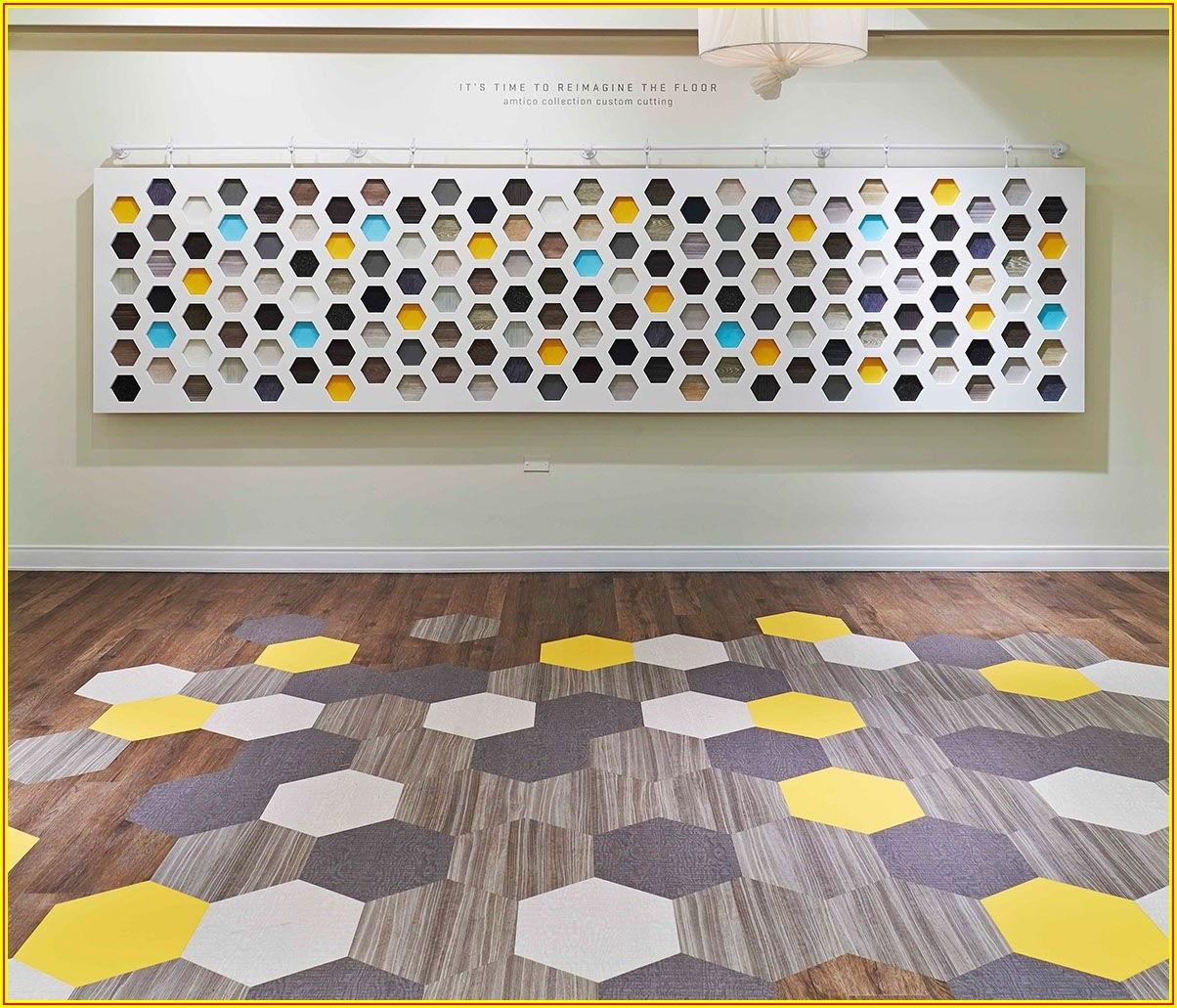 Hexagon Pattern Vinyl Flooring