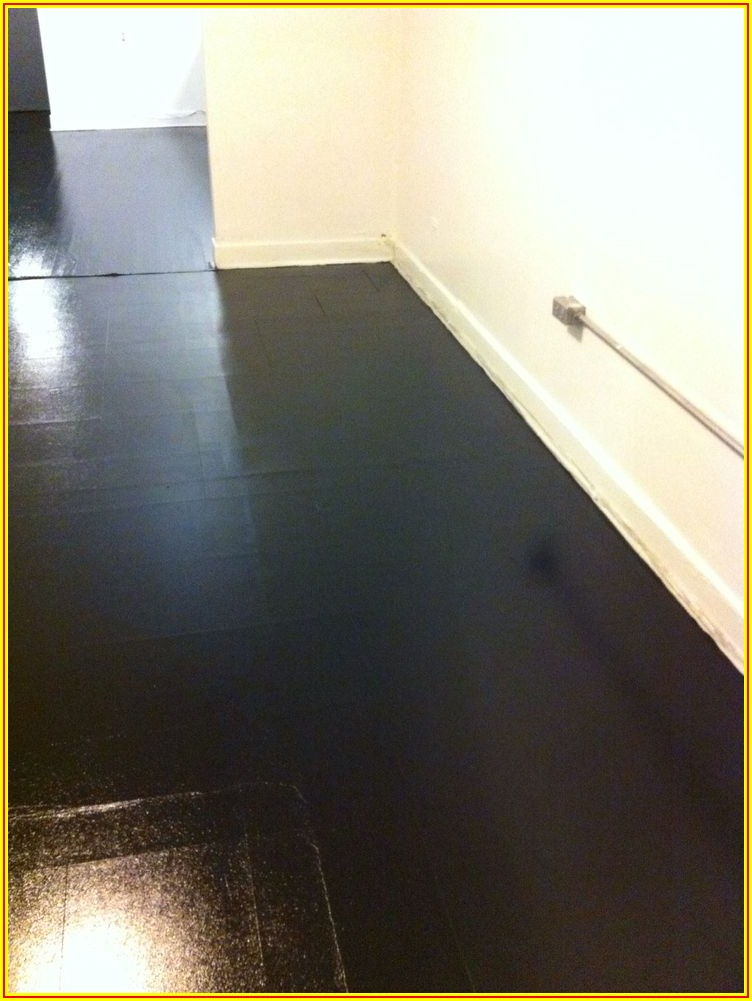 High Gloss Black Vinyl Flooring