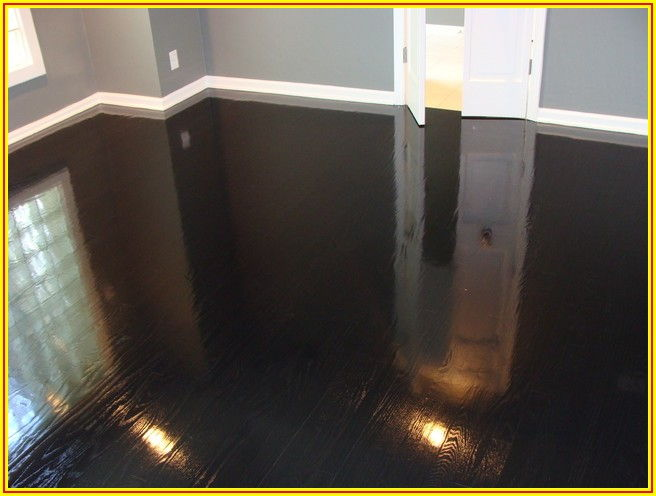 High Gloss Dark Wood Flooring