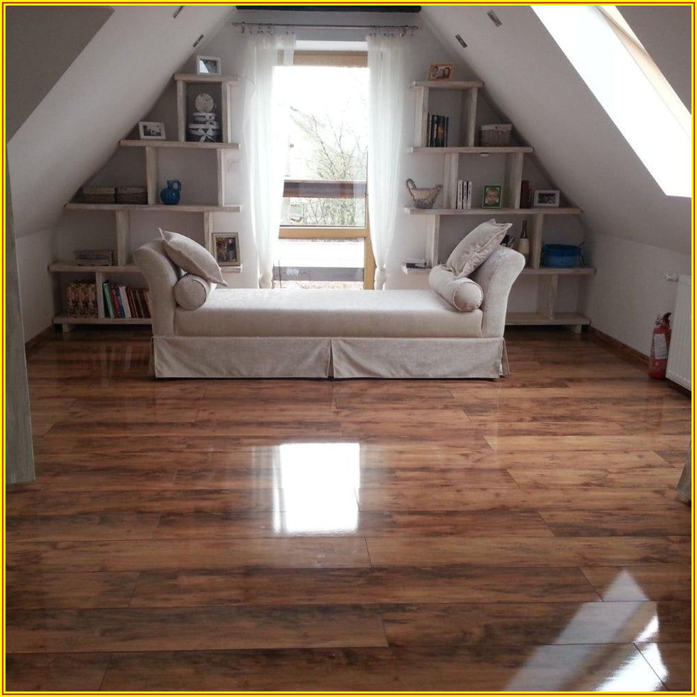 High Gloss Dark Wood Laminate Flooring