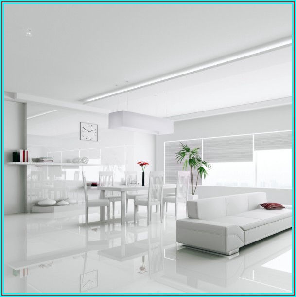 High Gloss White Vinyl Sheet Flooring
