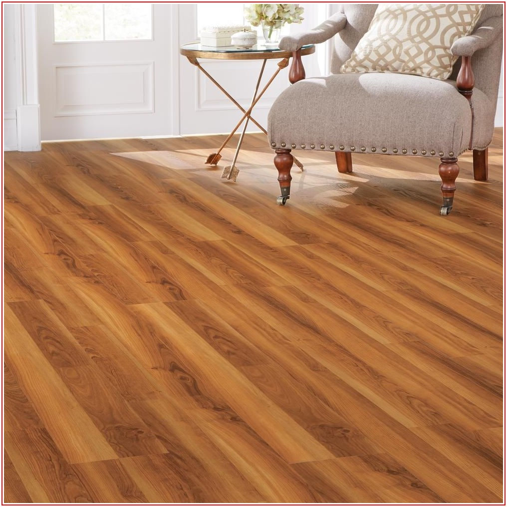 Home Depot Warm Cherry Vinyl Flooring