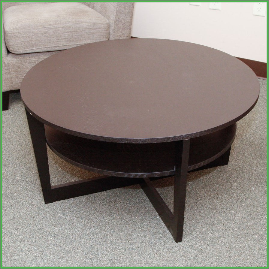 Ikea Black Round Coffee Table