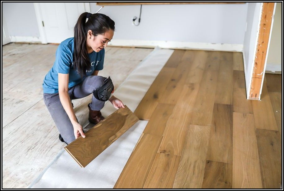 Installing Click Lock Hardwood Flooring On Concrete