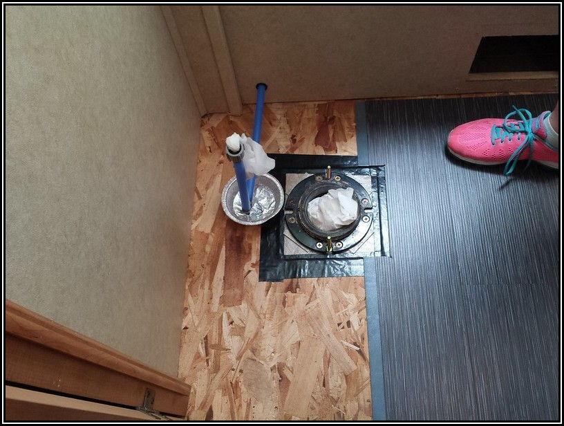Installing Flooring Around Toilet Flange