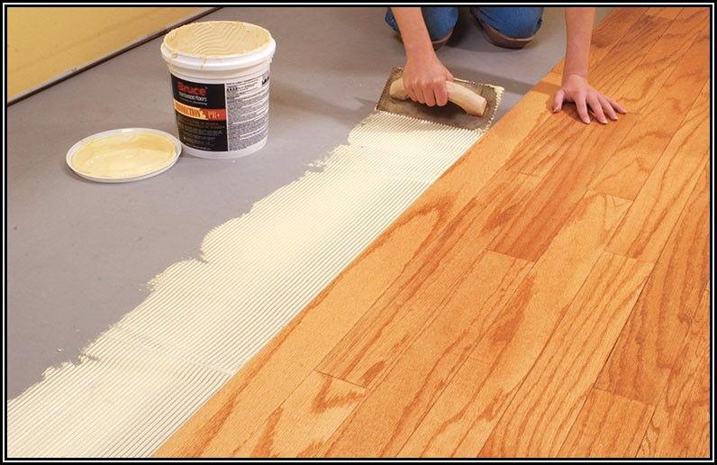 Installing Glue Down Wood Floors