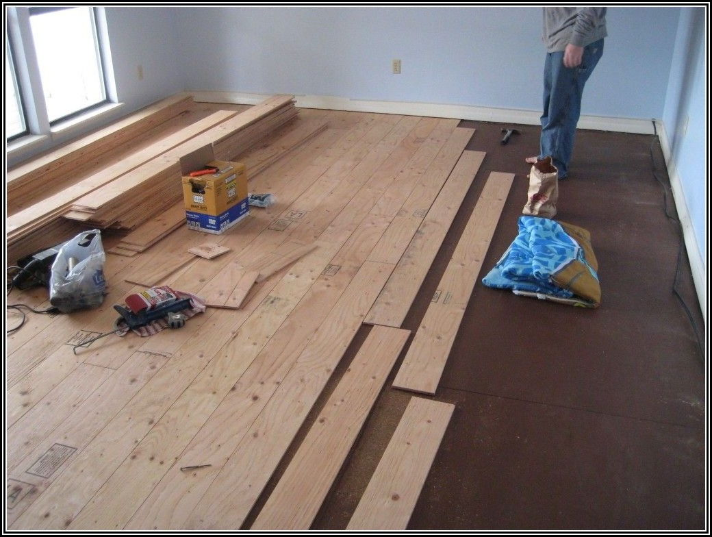 Installing Real Wood Floors Over Concrete