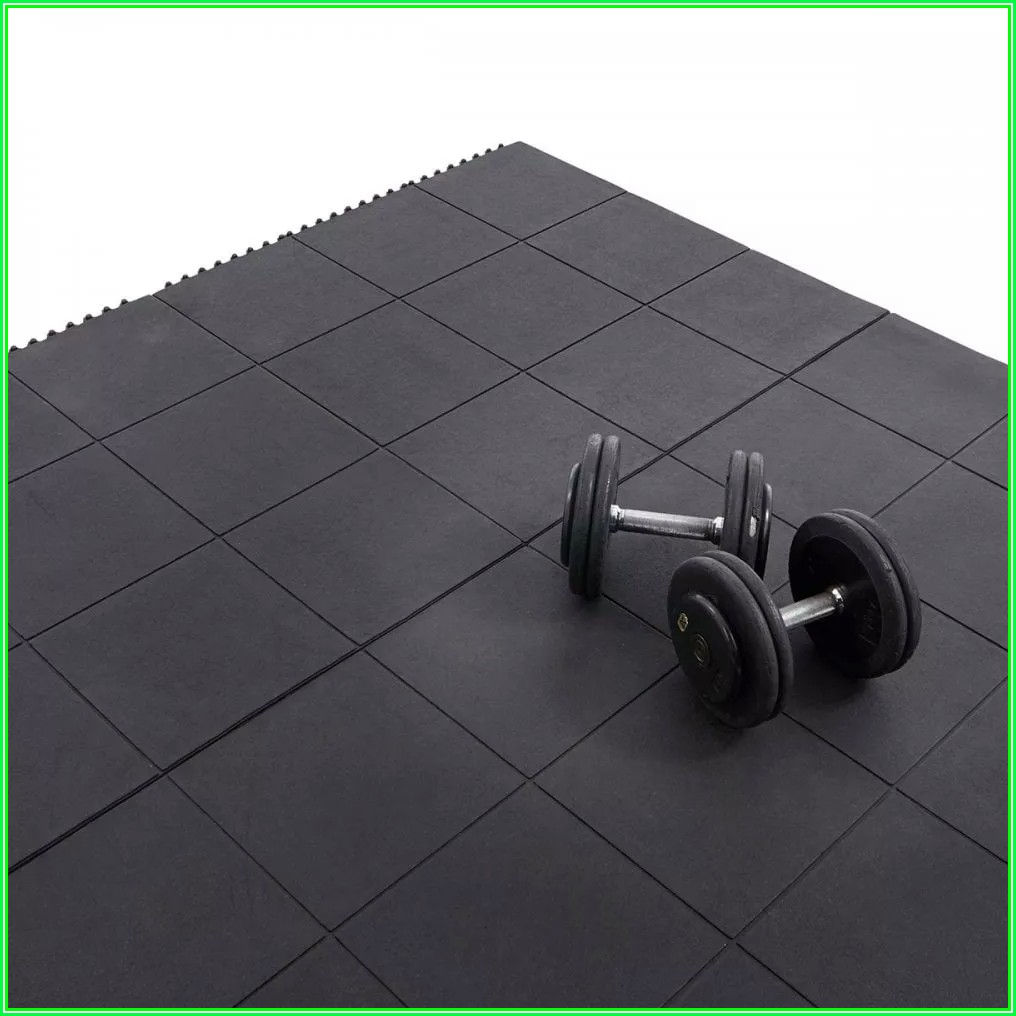 Interlocking Rubber Gym Flooring