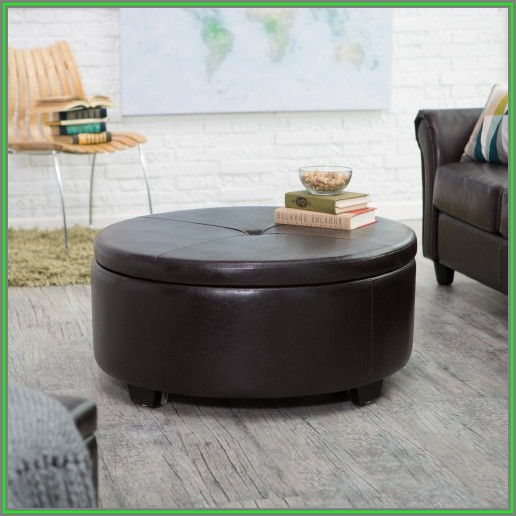 Large Round Ottoman Coffee Table