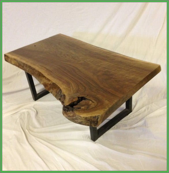 Live Edge Wood Slab Coffee Table