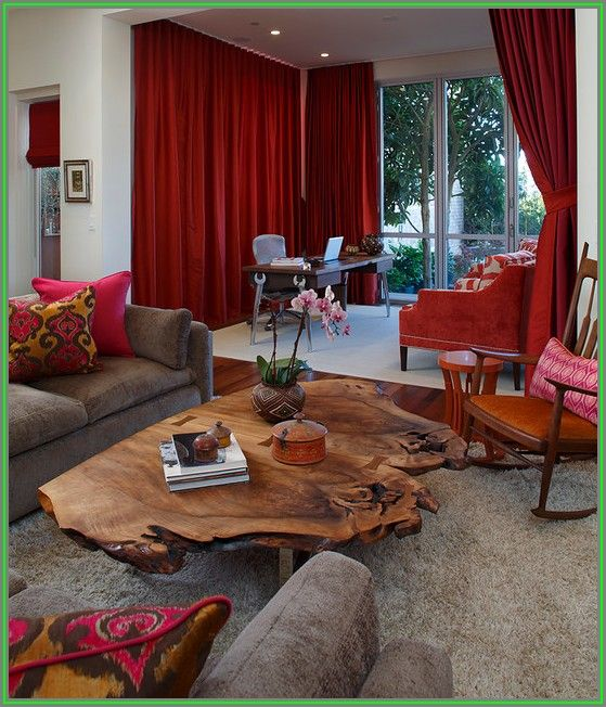 Living Room Tree Trunk Coffee Table