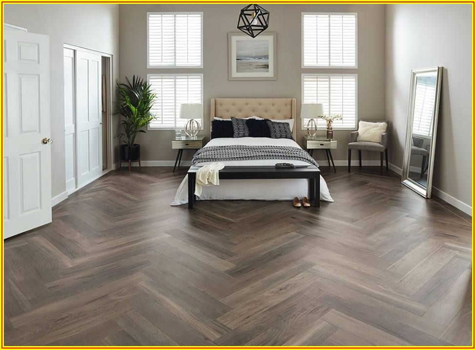 Luxury Vinyl Plank Flooring Herringbone Pattern