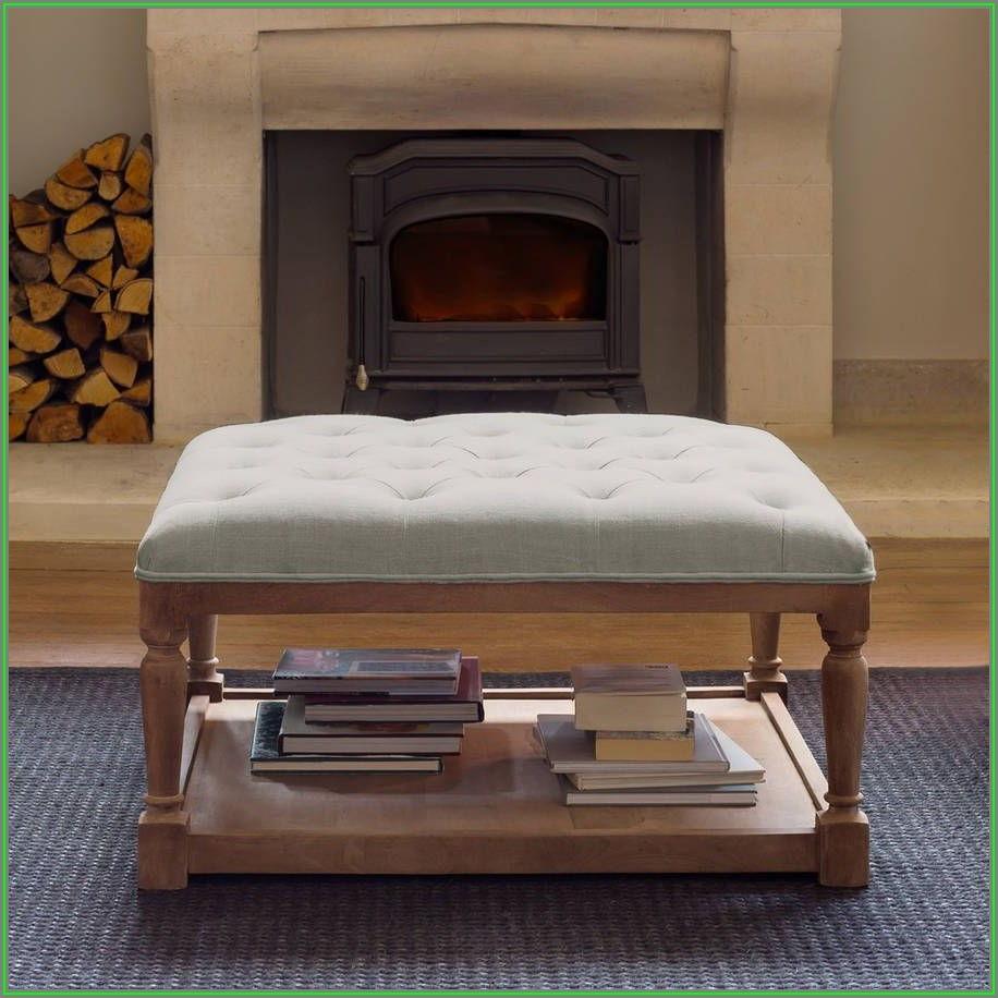 Modern Upholstered Ottoman Coffee Table