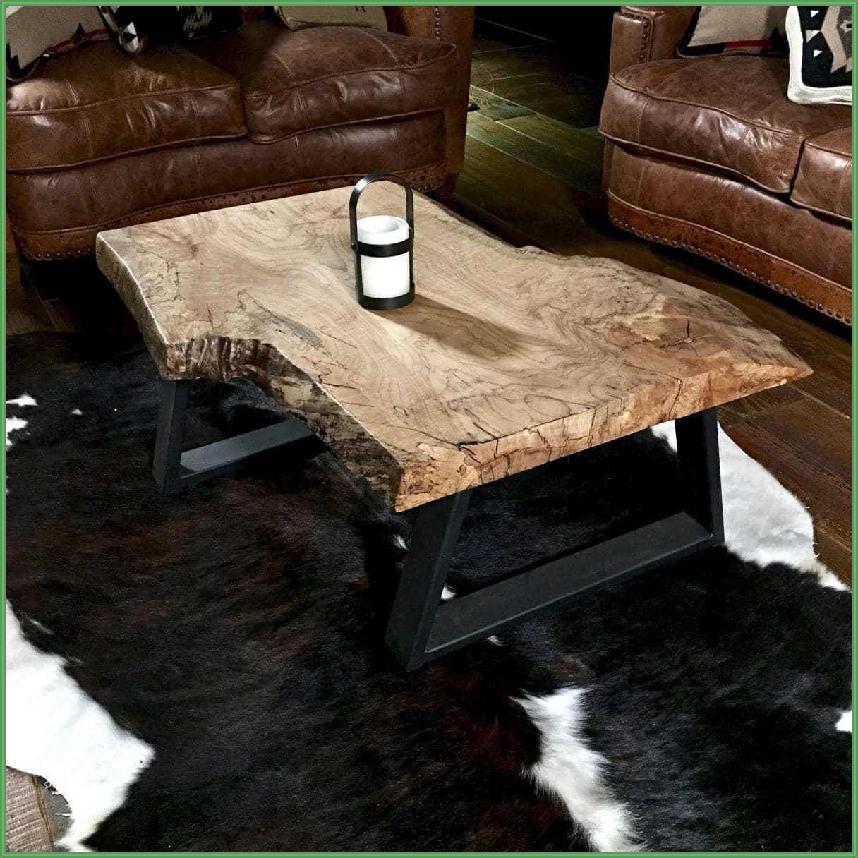 Natural Wood Slab Coffee Table