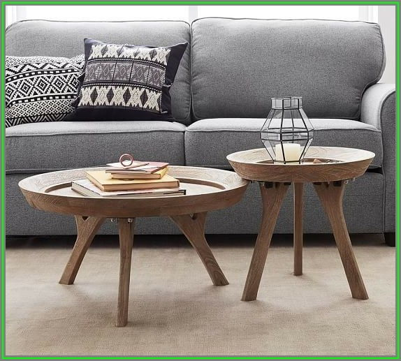 Pottery Barn Round Coffee Tables
