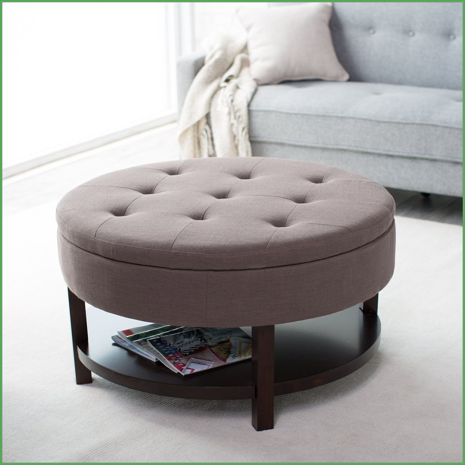 Round Ottoman Coffee Table Canada