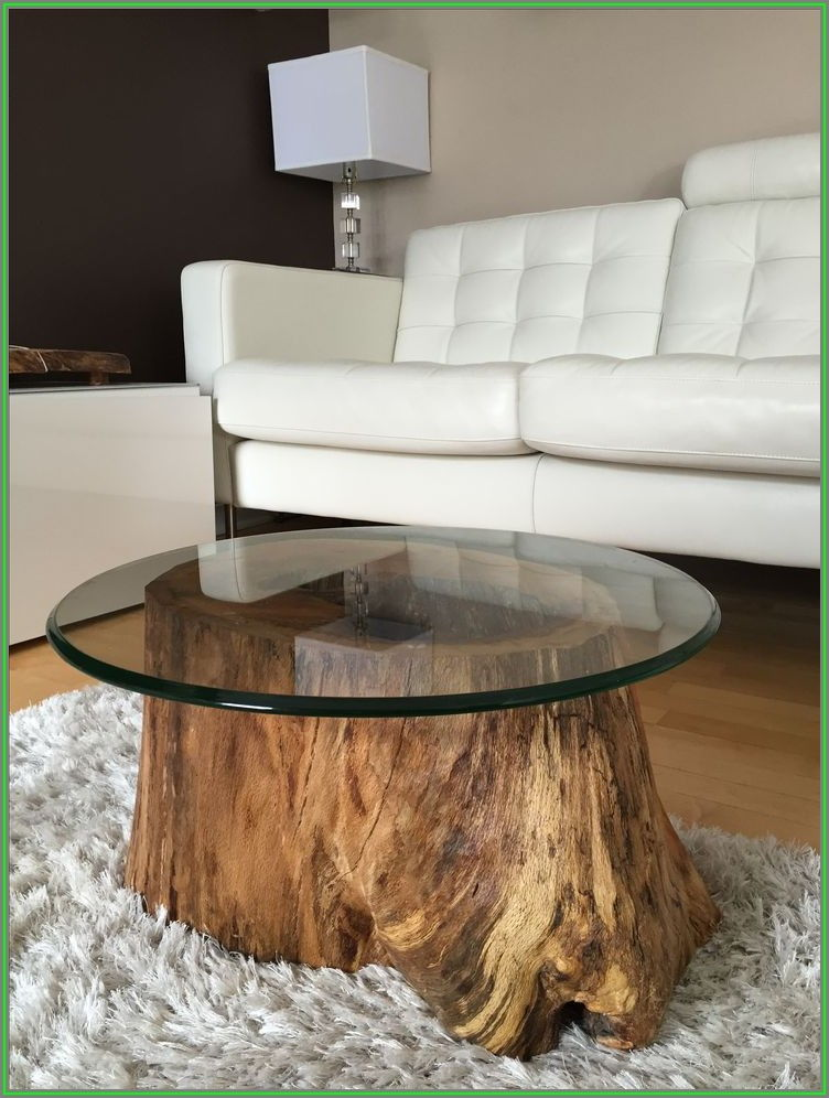 Round Tree Trunk Coffee Table