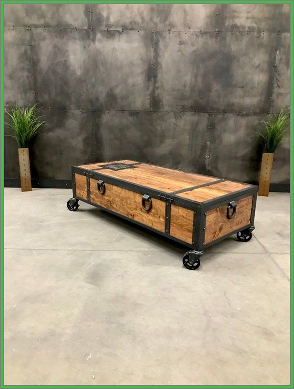 Rustic Coffee Table With Wheels And Storage