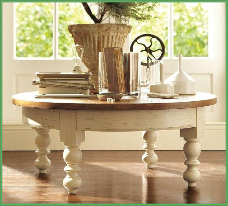 Rustic Round Coffee Table Decor