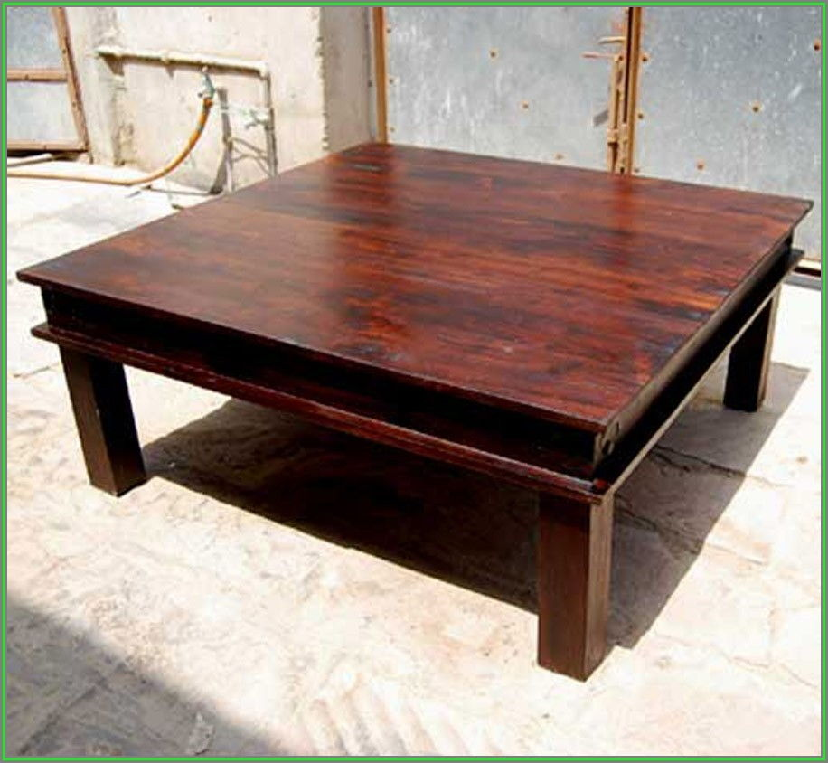 Rustic Square Coffee Table Plans