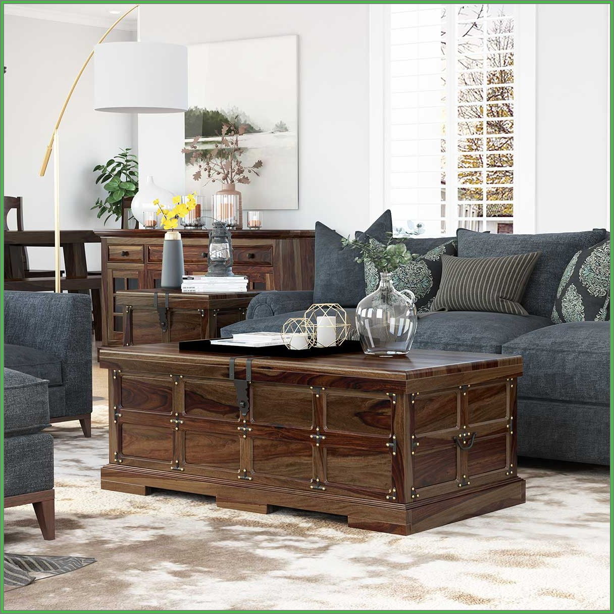 Rustic Storage Trunk Coffee Table