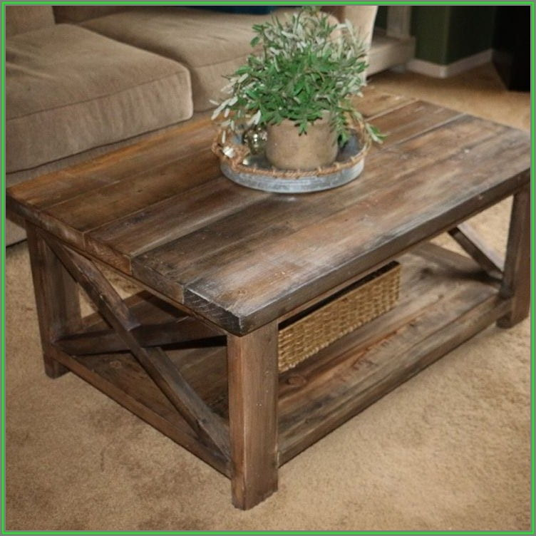 Rustic Wood Coffee Table Designs