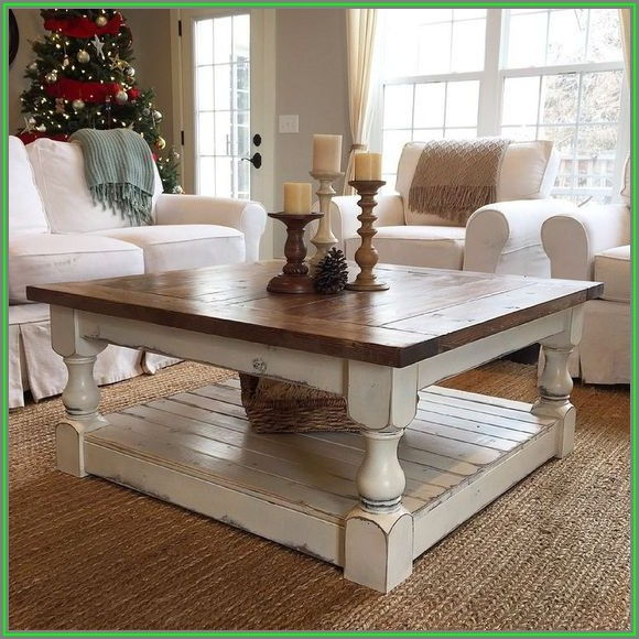 Shabby Chic Coffee Table Decor