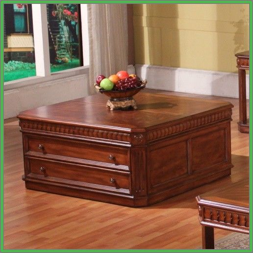 Square Lift Top Coffee Table With Storage