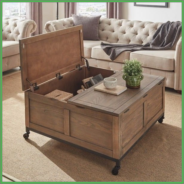 Square Storage Trunk Coffee Table