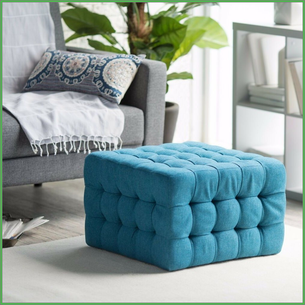 Tufted Square Ottoman Coffee Table