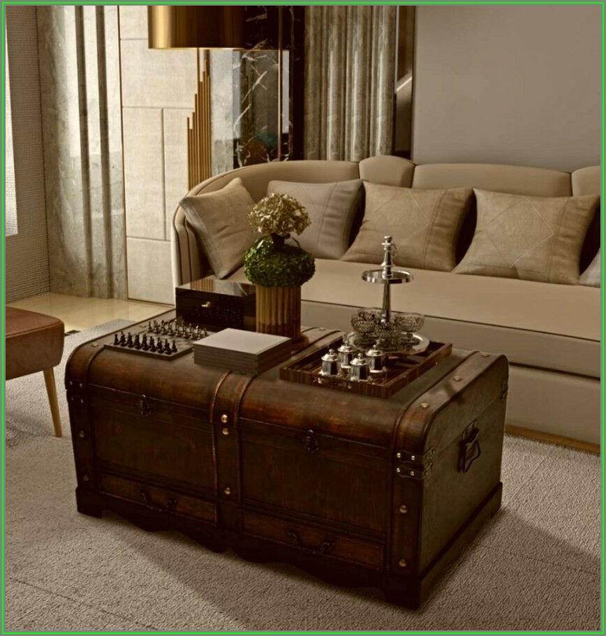 Vintage Storage Trunk Coffee Table