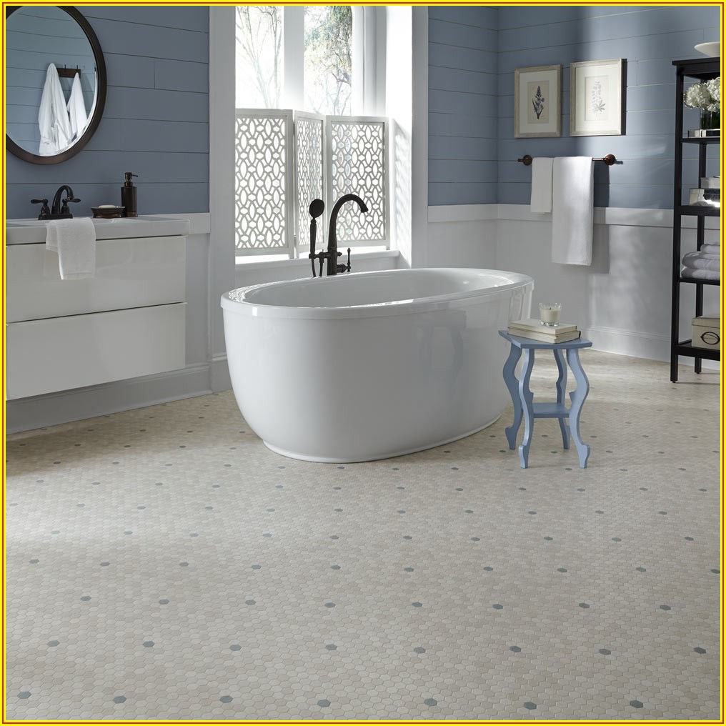 Vinyl Sheet Flooring Hexagon Pattern