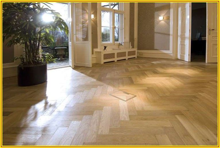 White Oak Herringbone Wood Flooring