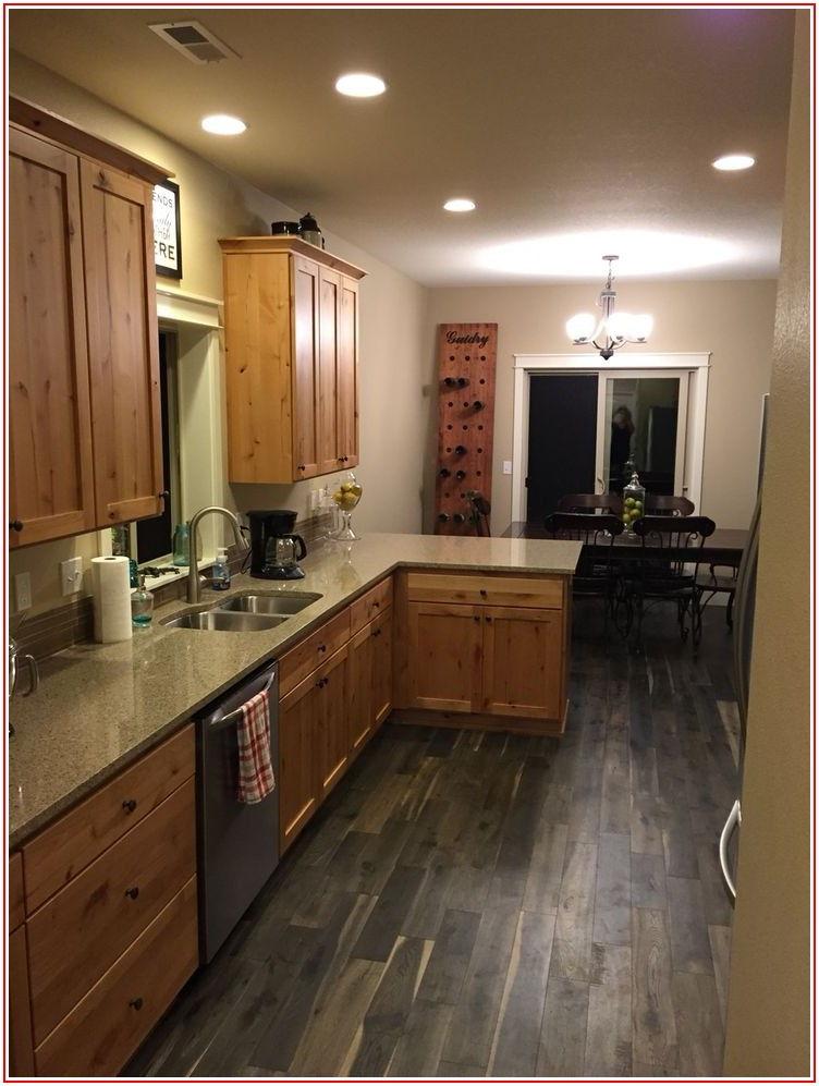 Wood Flooring With Honey Oak Cabinets