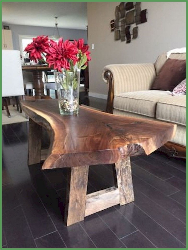 Wood Slab Coffee Table Diy