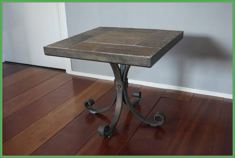 Wrought Iron Coffee Table With Slate Top