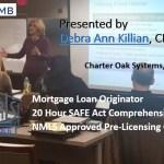 NAMB 20 Hour FEDERAL SAFE NMLS PE ID#7366 Mortgage Loan Originator