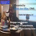 20 Hour FEDERAL SAFE NMLS PE ID#7366 Mortgage Loan Originator